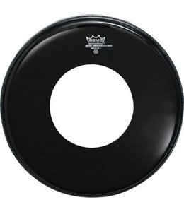 Remo Remo Ebony Powerstroke 3 Bass Drumhead w/ Center Hole
