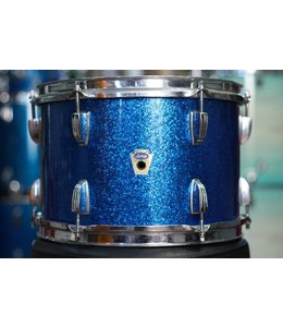 Ludwig Vintage Ludwig Transition Badge 12 in Rack Tom Blue Sparkle