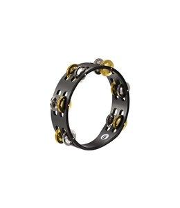 Meinl Meinl Compact Tambourine 2 Rows Steel/Solid Brass Jingles Black