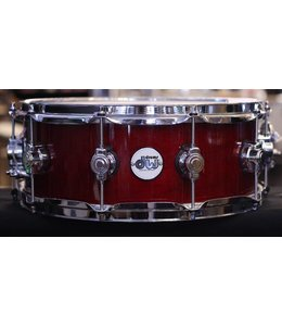 "DW Used DW Design Series 5.5""x14"" Snare Drum-Cherry Stain"