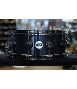 DW DW 5.5x14 in Collectors Series Carbon Fiber Snare Drum with Black Nickel Hardware