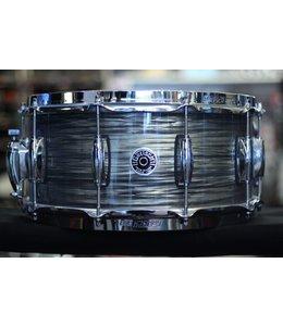 Gretsch Gretsch Brooklyn 6.5x14 Snare Drum Nitron Wrap Finish w/Lightning Throwoff Grey Oyster - Floor Model