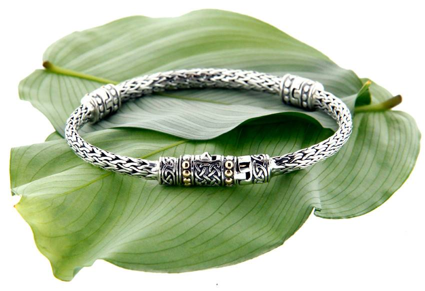 Bracelet: Sterling & 18k Dragon Weave Eternity
