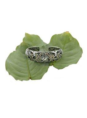 Bracelet: Tree of Life Bangle, Sterling & 18k