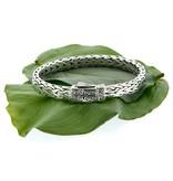 Bracelet: Sterling Dragon Weave, Celtic Square
