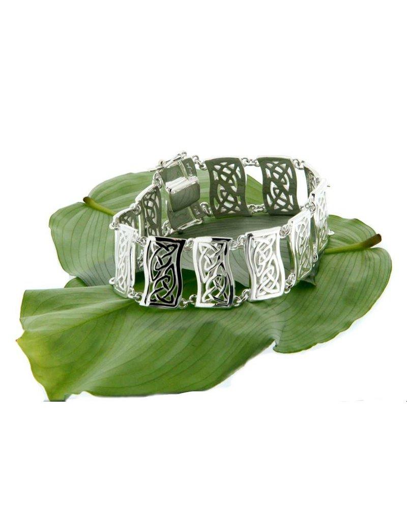 Bracelet: Sterling Celtic Link, Double Trinity