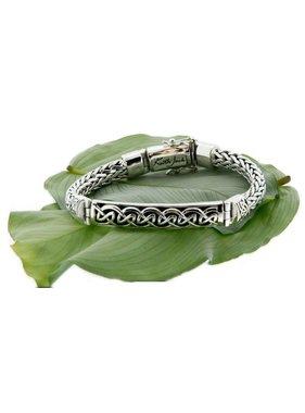 Bracelet: Sterling Dragon Weave Eternity Bar