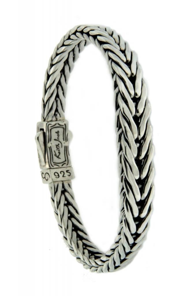 Bracelet: Sterling Dragon Weave, Graduated Eternity