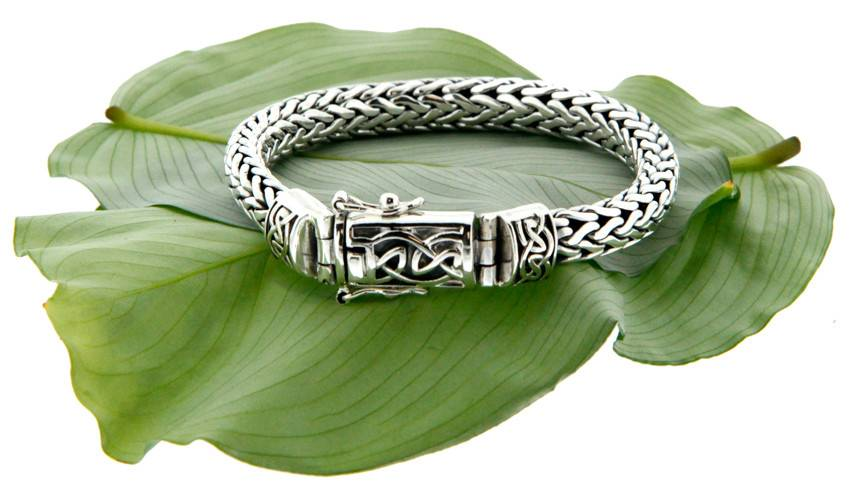 Bracelet: Sterling Dragon Weave Eternity