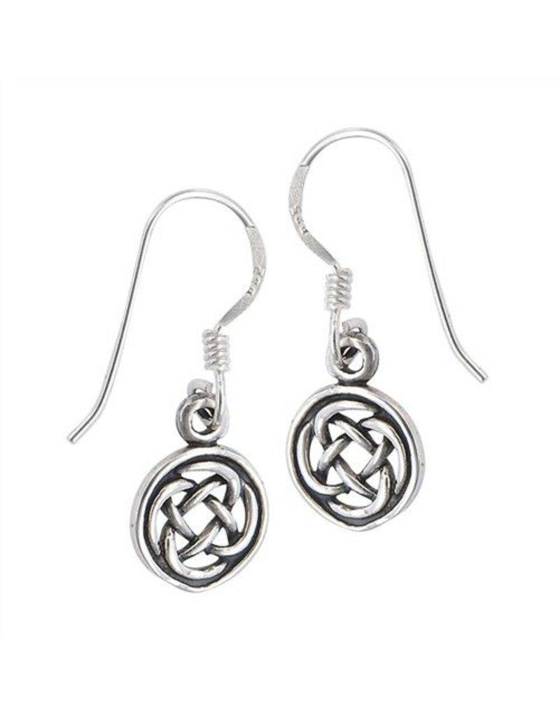 Earring: SS Circle Knot Drop WE4945