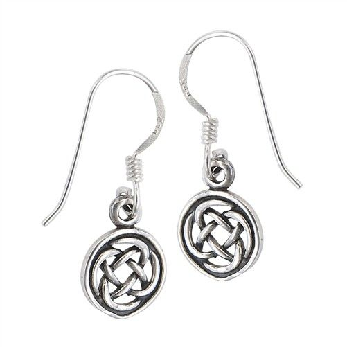 Welman Earring: SS Circle Knot Drop