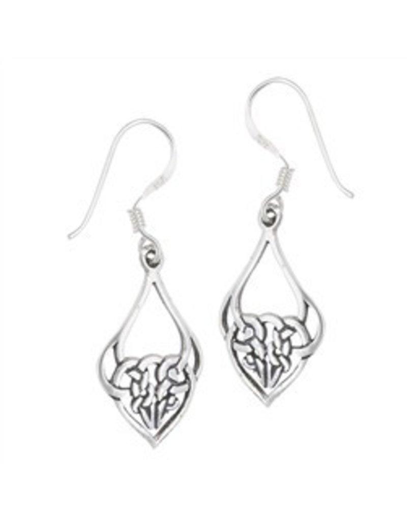 Earring: SS Knot Heart WE4276