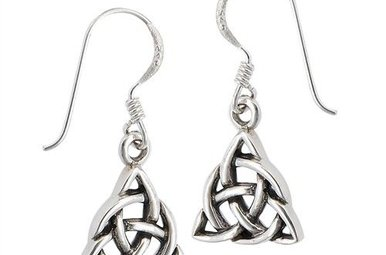 Earring: SS Trinity Circ Knot