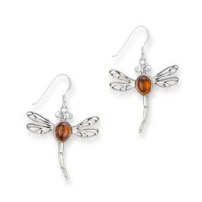 H & Y Earrings: SS Amber Dragonfly