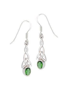 Earrings: SS Green Trinity WE4673CZ