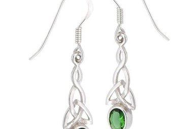 Earrings: SS Green Trinity