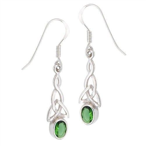 Welman Earrings: SS Green Trinity WE4673CZ