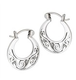 Earrings: SS Spiral Disc WE6538
