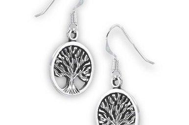 Earrings: SS Tree Life