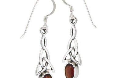 Earrings: SS Trinity Garnet