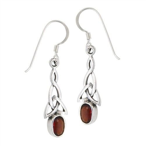 Earrings: SS Trinity Garnet WE4673G