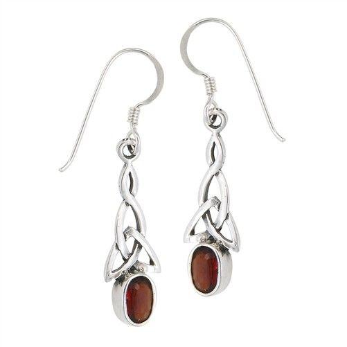 Earrings: SS Trinity Garnet WE4673G