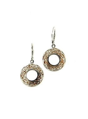 Earrings: Sterling & 24k Gilding Window to the Soul, Rnd