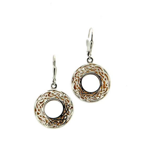Earrings: Sterling & 24k Gilding Window to the Soul, Rnd