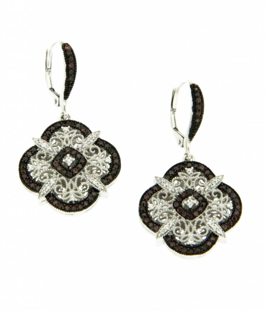 Keith Jack Earrings: Sterling CZ Night & Day