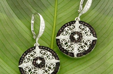 Earring: Sterling CZ Night & Day, Rnd