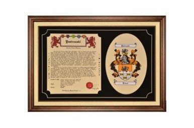 HRC: Family Tribute (2 pc CoA + History, framed)