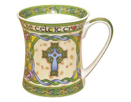 Clara Mug: Irish Weave Celtic Cross