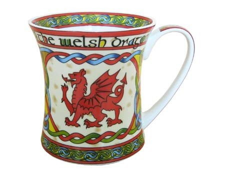 Clara Mug: Welsh Weave Dragon