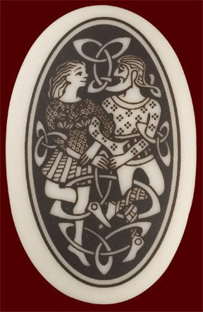 Necklace: Ceramic Divine Couples