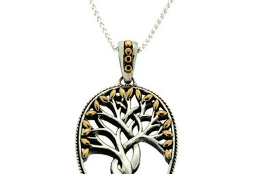 Pendant: Sterling & 18k Tree of Life