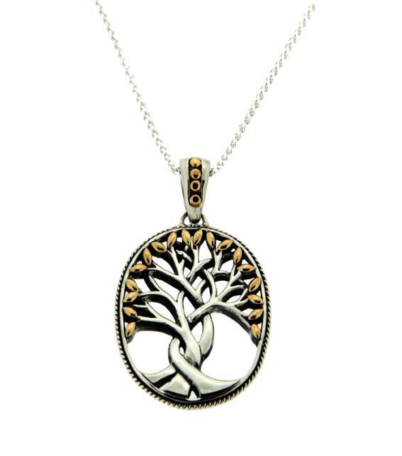 Keith Jack Pendant: Sterling & 18k Tree of Life