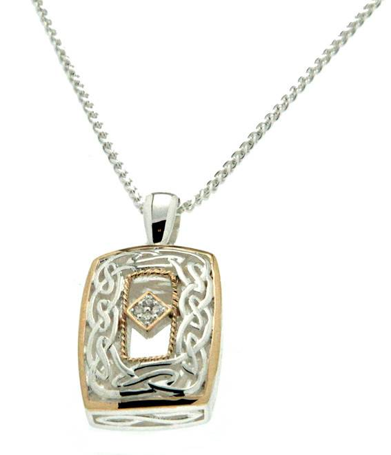 Pendant: Sterling, 10k & Diamond Window to the Soul