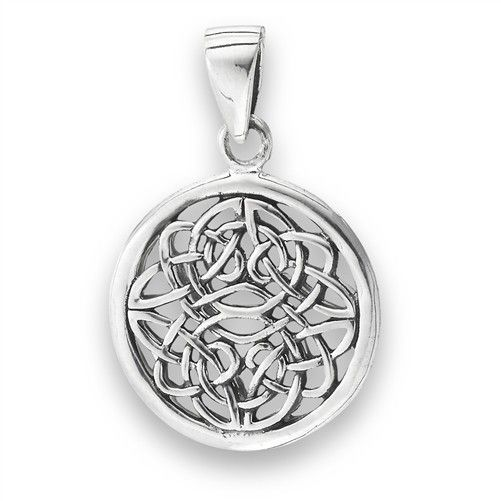 Necklace: SS Knot Disc