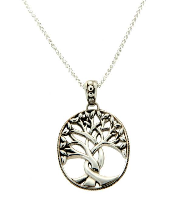 Keith Jack Pendant: Sterling Tree of Life