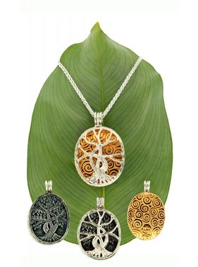 Pendant: Sterling & 22k Guilded Tree of Life, 4-way