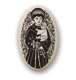 Necklace: Ceramic St. Anthony