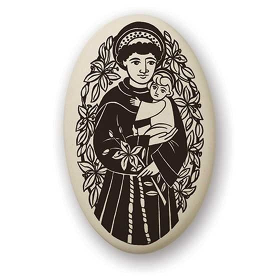 Necklace: Ceramic St. Anthony