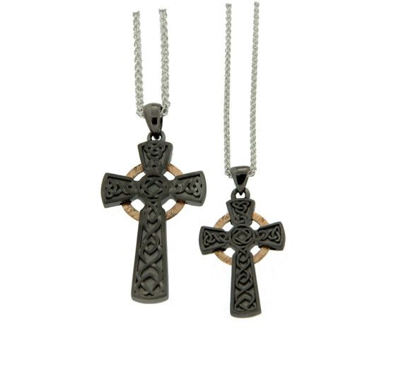 Pendant: Rhutanium & 10k Circle Cross, Sm