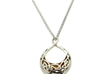 Pendant: Sterling & 24k Guilding Window to the Soul, Sm Trdrp