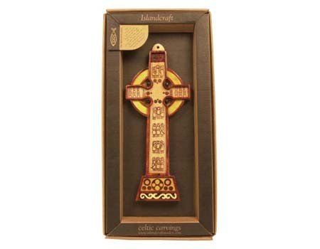 Plaque: Wood Carved Cross