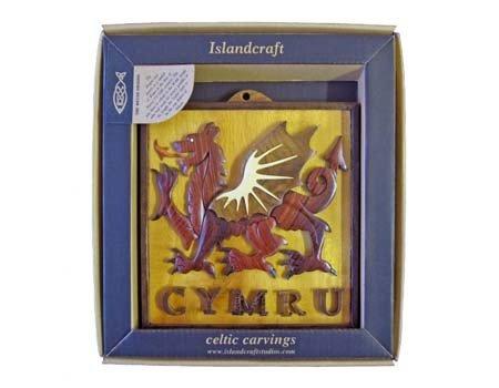 Royal Tara Plaque: Wood Welsh Dragon