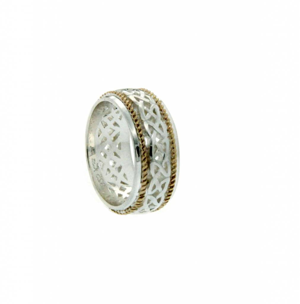 Keith Jack Ring: Ederline - Sterling & 10k Love Knot with Twisted ...
