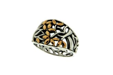Ring: Sterling & 18k Tree of Life