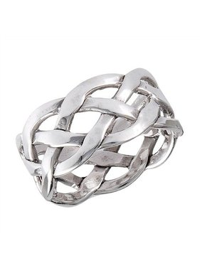 Ring: Neverending Braid Band, Open, SS, Wide
