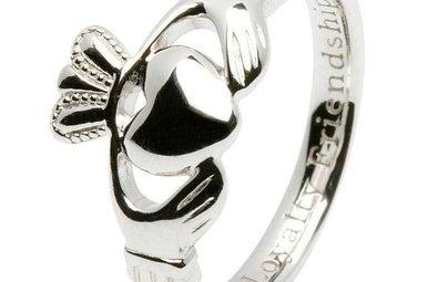 Ring: SS Claddagh. Ladies Insc